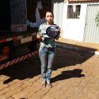 Selma Azevedo recebe em casa os seus prêmios - sorteados no final da campanha Show de Prêmios CDL + Brumado 2017