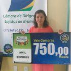 Ganhadores da campanha NATAL PREMIADO É NO COMÉRCIO DE BRUMADO